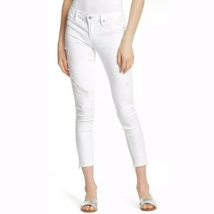 Articles of Society Carly Distressed Crop Skinny Jean in Ibiza White size 30